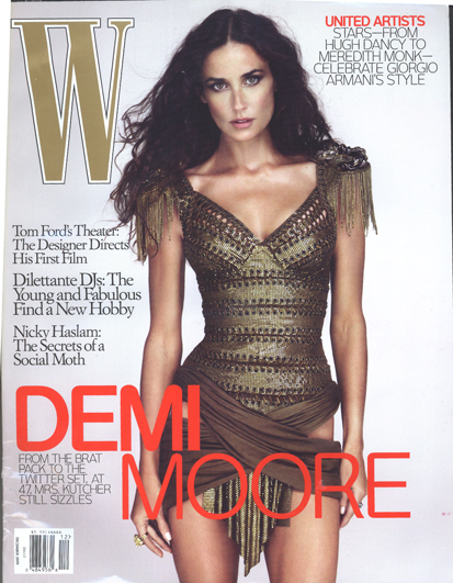 Demi Moore is not boring, and when I am 47 I want to look like her. She looks great, but once you get inside the magazine, it is boring.