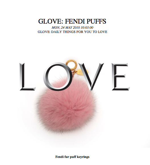A Fendi fur keychain Exciting And how does it relate to a glove
