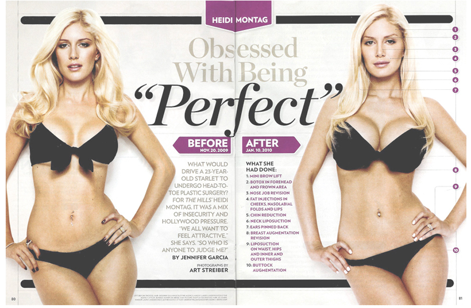 heidi montag plastic surgery regret. GOING TO REGRET SOMETHING