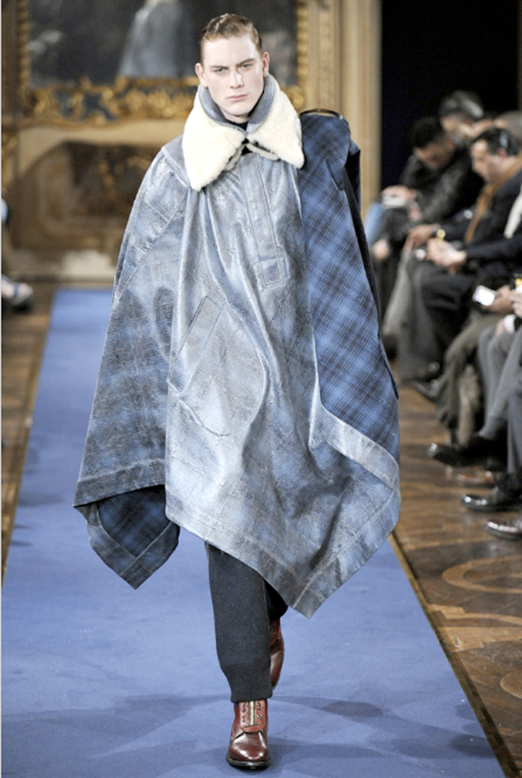 Alexander McQueen, menswear, autumn winter 2011, fall 2011, menswear catwalks, fashion shows, Sarah Burton, blanket coats