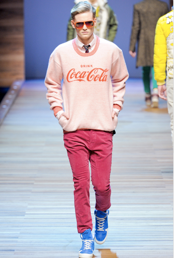 D&G, menswear, autumn winter 2011, fall 2011, menswear catwalks, fashion shows, Coca Cola t-shirt