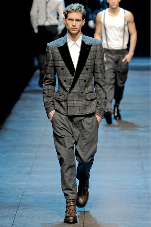 Dolce & Gabbana, menswear, Dolce & Gabbana menswear, autumn winter 2011, fall 2011, menswear catwalks, fashion shows, men's suiting