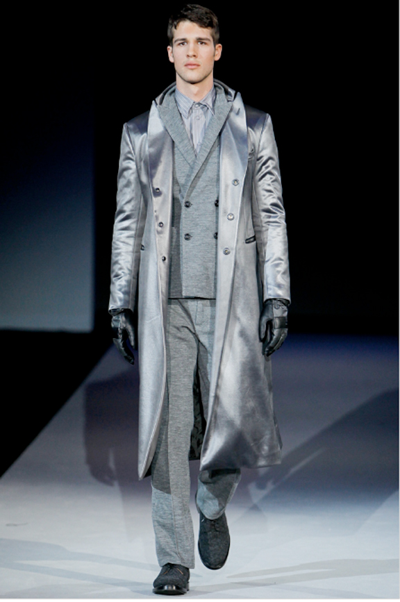 Giorgio Armani, menswear, autumn winter 2011, fall 2011, menswear catwalks, fashion shows, men's suits, coats