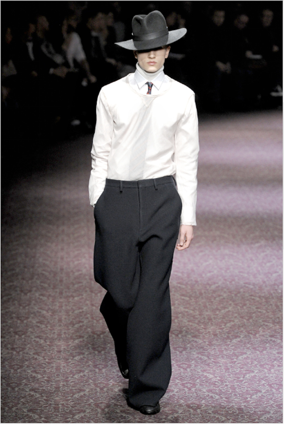 Lanvin, Alber Elbaz, menswear, autumn winter 2011, fall 2011, menswear catwalks, fashion shows, mens suits, sweatshirt