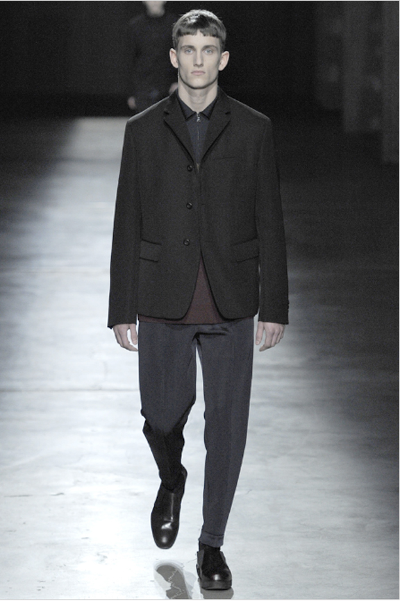 Prada, menswear, autumn winter 2011, fall 2011, menswear catwalks, fashion shows, bad haircuts, Dumb and Dumber