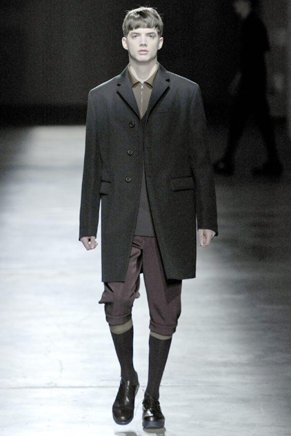 Prada, menswear, autumn winter 2011, fall 2011, menswear catwalks, fashion shows, knee socks