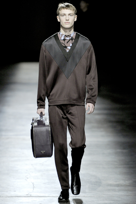 Prada, menswear, autumn winter 2011, fall 2011, menswear catwalks, fashion shows, nylon tracksuits