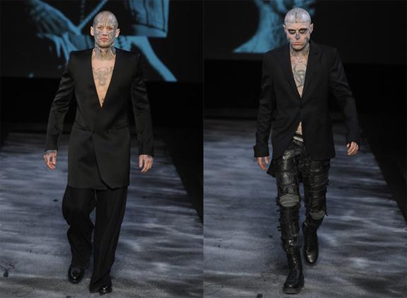 Thierry Mugler, Nicola Formichetti, Lady Gaga, menswear, autumn winter 2011, fall 2011, menswear catwalks, fashion shows, tattoos