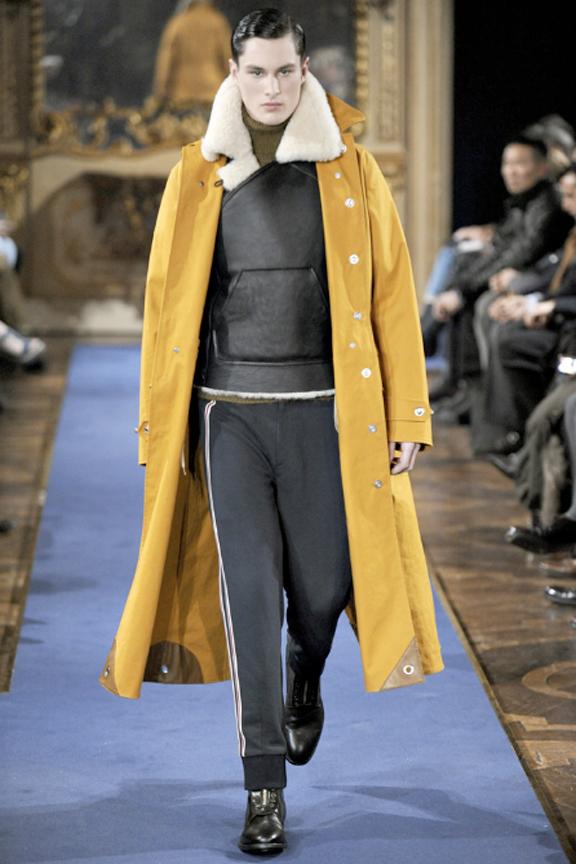 Alexander McQueen, menswear, autumn winter 2011, fall 2011, menswear catwalks, fashion shows, Sarah Burton, sheepskin, Mackintosh overcoat