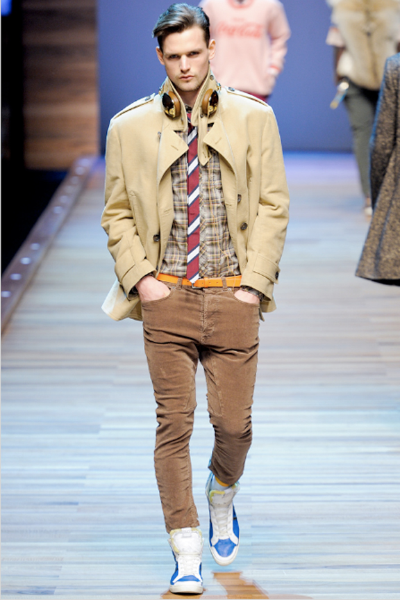 D&G, menswear, autumn winter 2011, fall 2011, menswear catwalks, fashion shows, preppy look