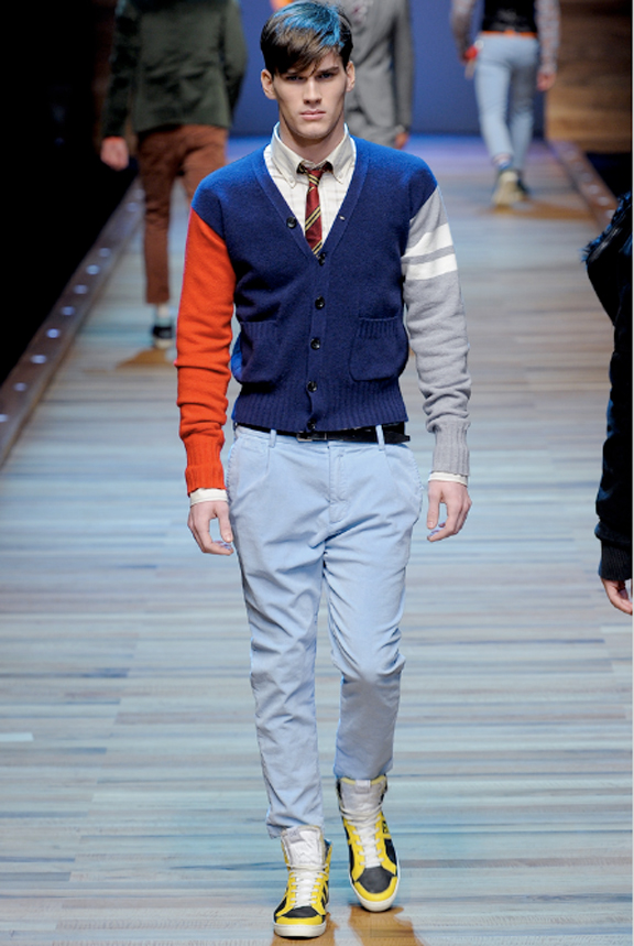 D&G, menswear, autumn winter 2011, fall 2011, menswear catwalks, fashion shows, mens cardigans