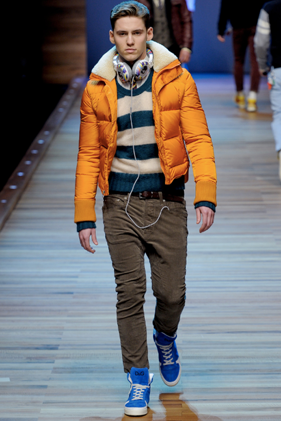 D&G, menswear, autumn winter 2011, fall 2011, menswear catwalks, fashion shows, puffa jacket