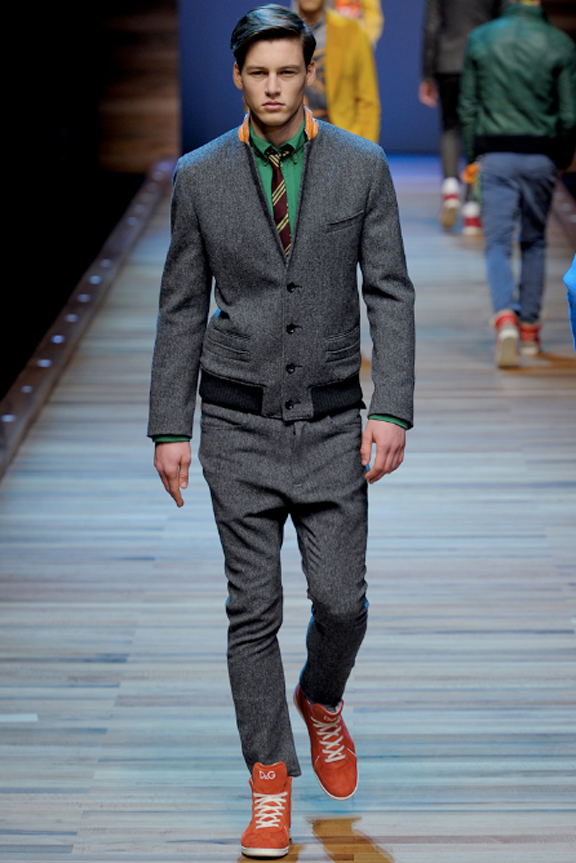 D&G, menswear, autumn winter 2011, fall 2011, menswear catwalks, fashion shows, blazer, bomber jacket