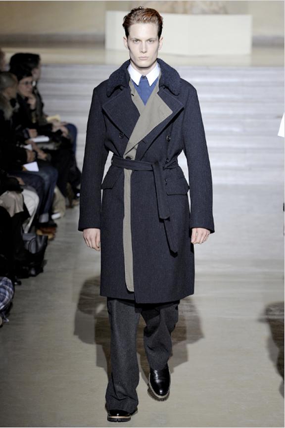 Dries Van Noten, menswear, autumn winter 2011, fall 2011, menswear catwalks, fashion shows, men's suits, trench coat