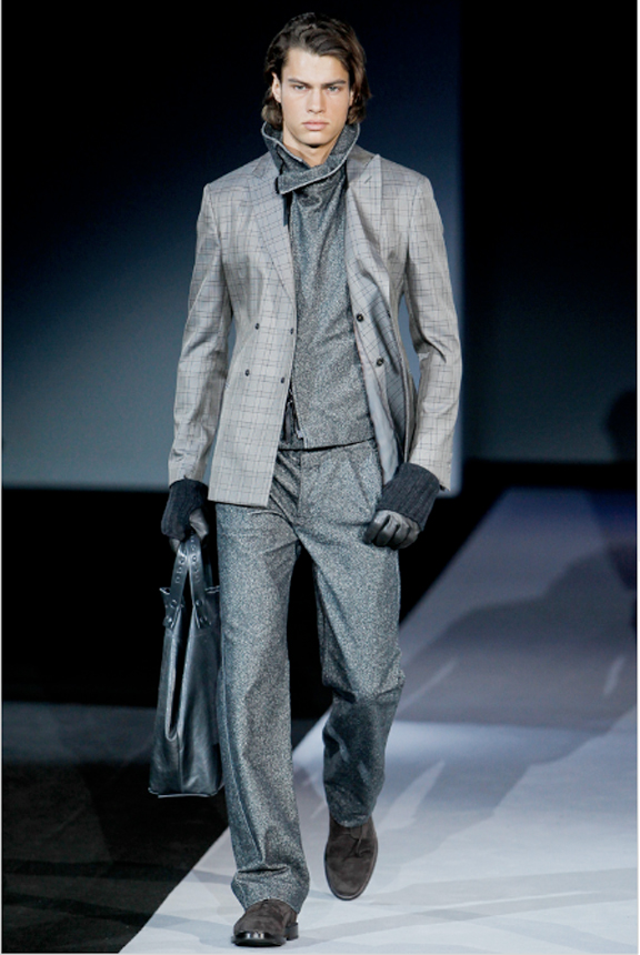 Giorgio Armani, menswear, autumn winter 2011, fall 2011, menswear catwalks, fashion shows, men's suits
