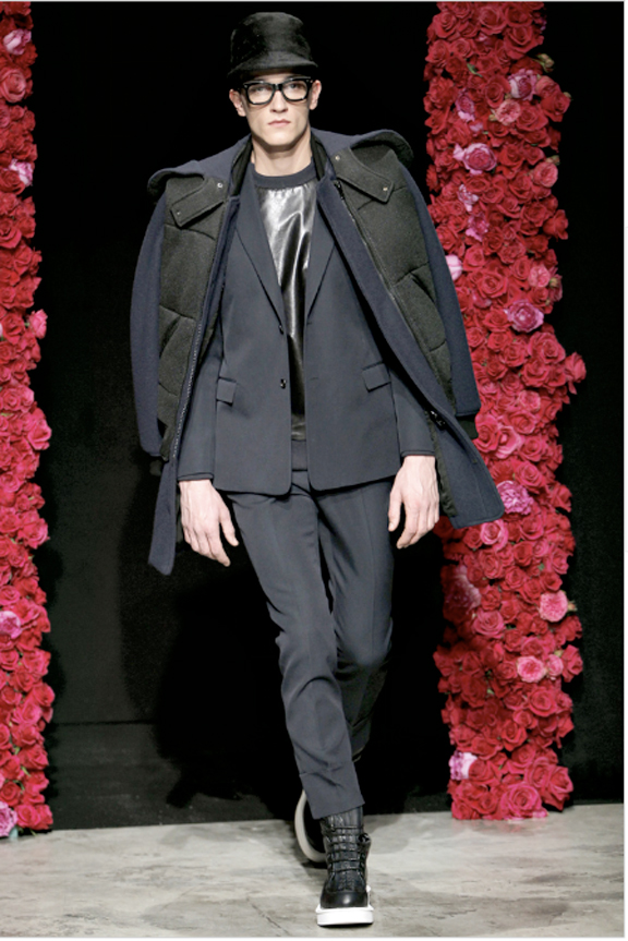 Givenchy, board shorts, menswear, autumn winter 2011, fall 2011, menswear catwalks, fashion shows, tuxedo suits, scuba