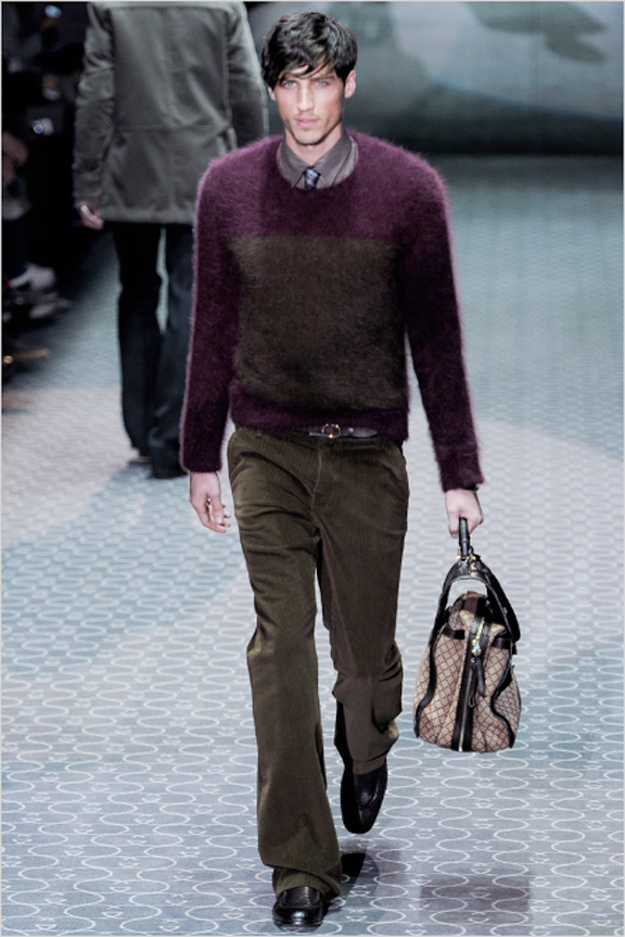Gucci, menswear, autumn winter 2011, fall 2011, menswear catwalks, fashion shows, knitwear, sweater