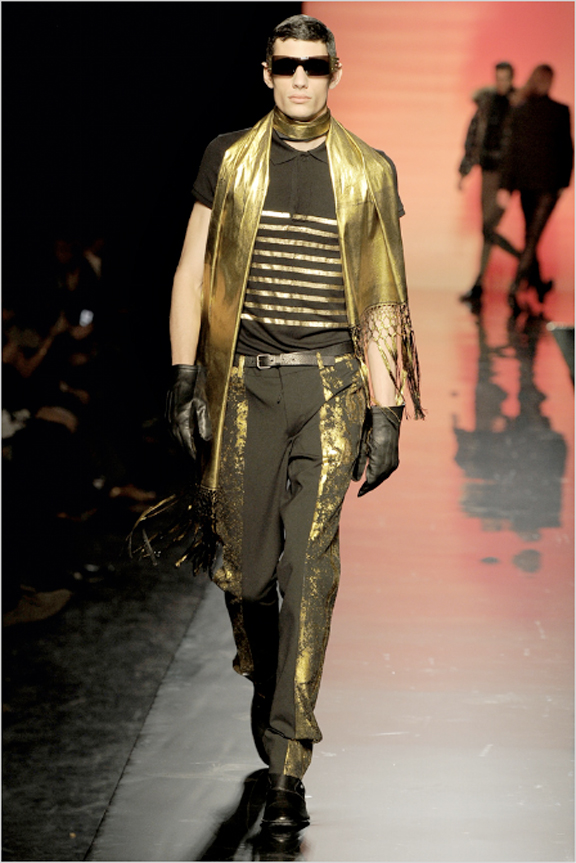 Jean Paul Gaultier, James Bond, menswear, autumn winter 2011, fall 2011, menswear catwalks, fashion shows, tuxedo suits, scuba