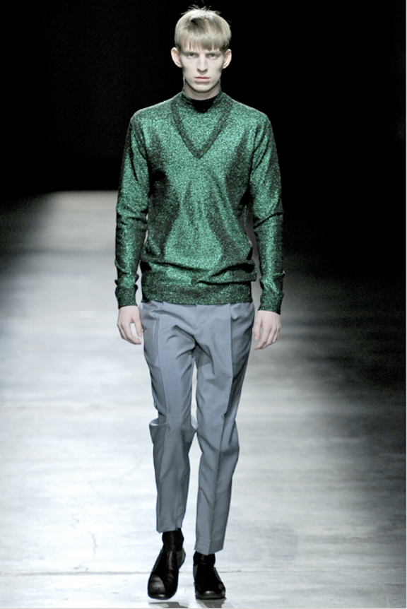 Prada, menswear, autumn winter 2011, fall 2011, menswear catwalks, fashion shows, Christmas sweaters