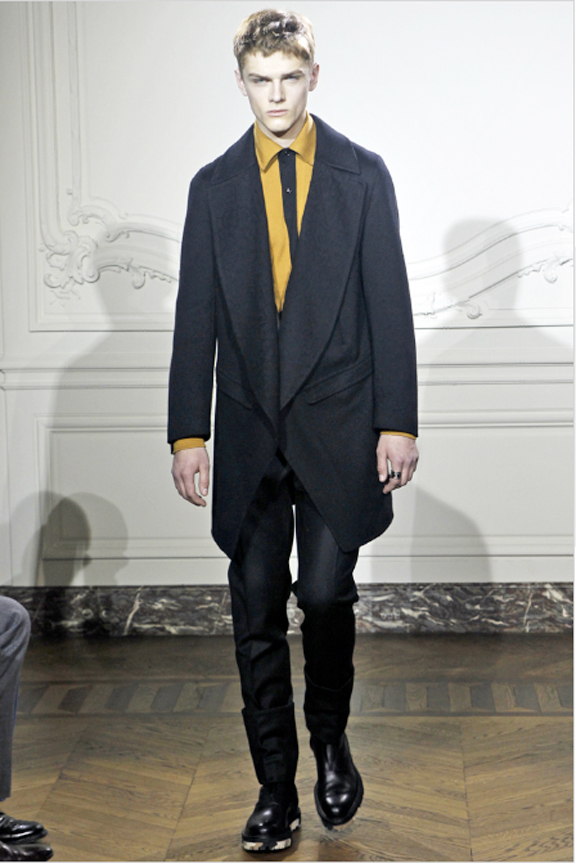 Yves Saint Laurent, menswear, autumn winter 2011, fall 2011, menswear catwalks, fashion shows, leather, mens suits, Stefa