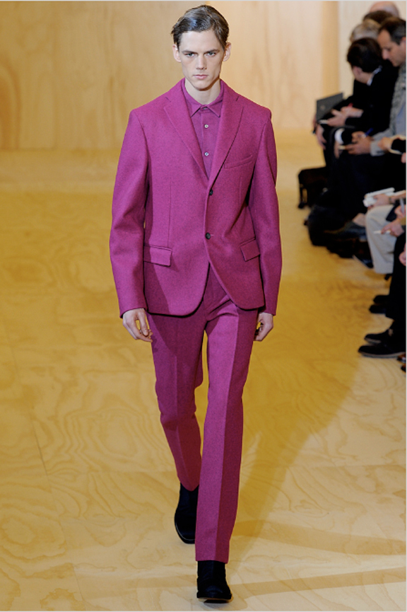 Jil Sander, menswear, Jil Sander menswear, autumn winter 2011, fall 2011, menswear catwalks, fashion shows, Raf Simons, pink suits