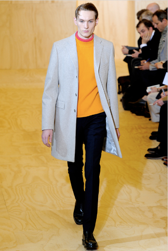 Jil Sander, menswear, Jil Sander menswear, autumn winter 2011, fall 2011, menswear catwalks, fashion shows, Raf Simons, neon trend