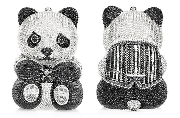 judith leiber, panda bag, designer bags, crystal bags