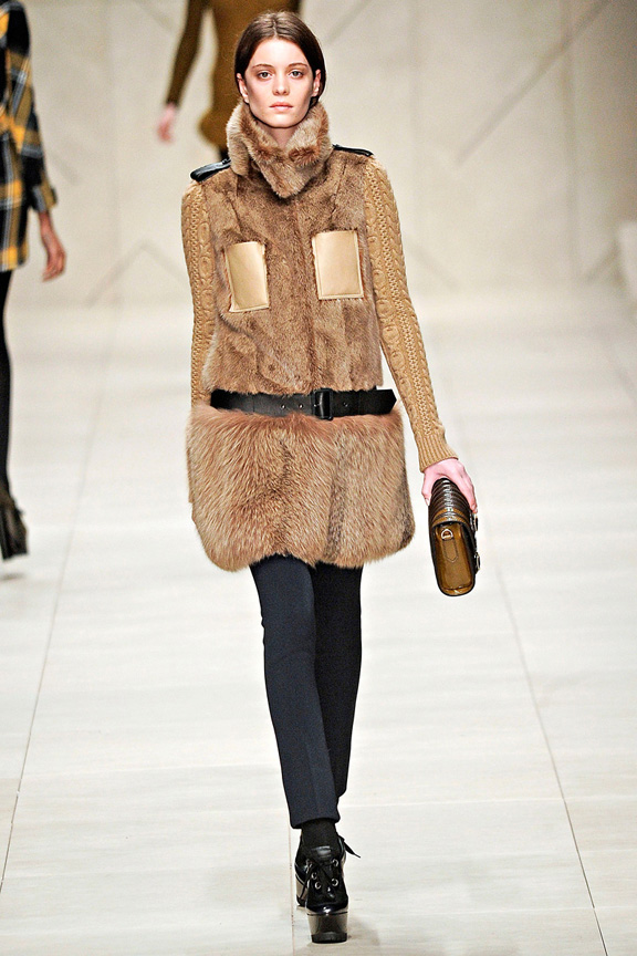 Burberry Prorsum, outerwear, coats, fur, womenswear, London fashion week, autumn winter 2011