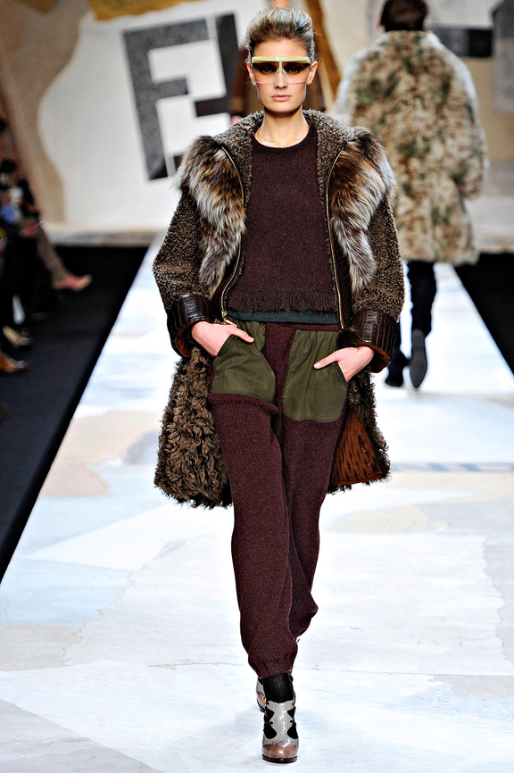 Fendi, coats, Karl Lagerfeld, outerwear, fur, evening wear, womenswear, Milan fashion week, autumn winter 2011