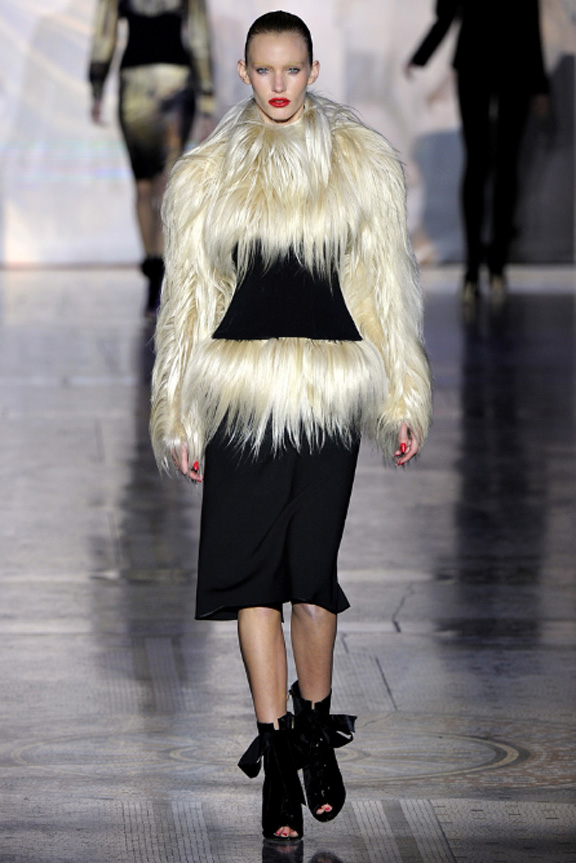 Giles, goat fur, evening wear, womenswear, London fashion week, autumn winter 2011