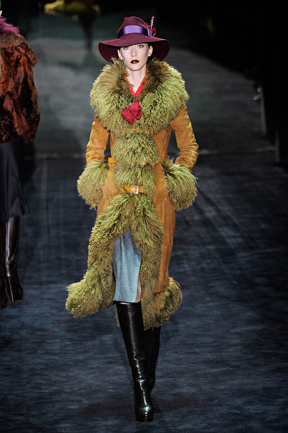 Gucci, seventies, fur, evening wear, womenswear, Milan fashion week, autumn winter 2011