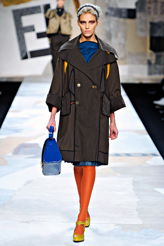 Fendi, coats, outerwear, fur, evening wear, womenswear, Milan fashion week, autumn winter 2011