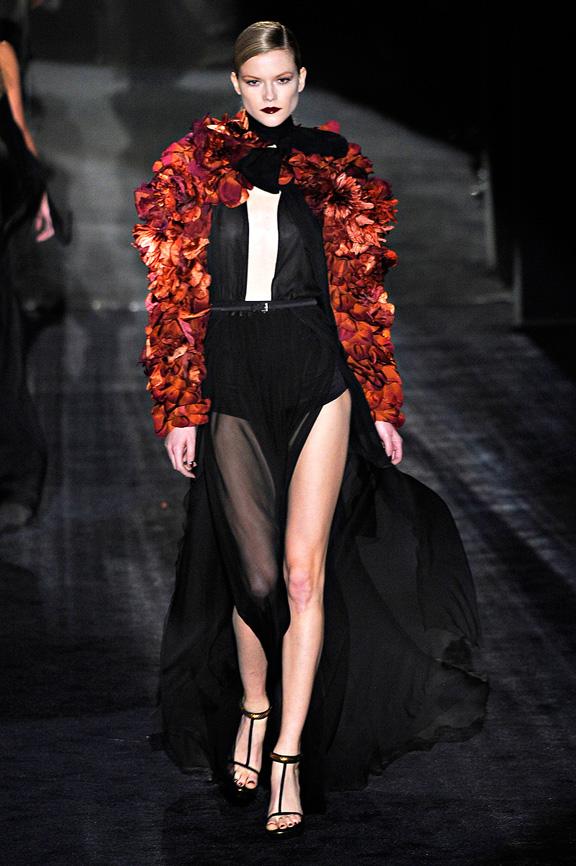 Gucci, seventies, fur, evening wear, womenswear, Milan fashion week, autumn winter 2011