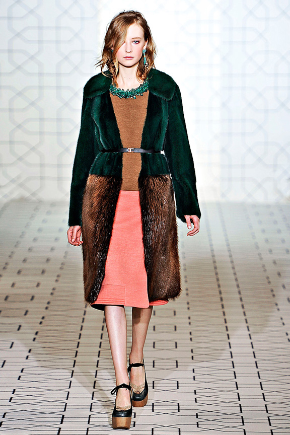 Marni, fur, womenswear, Milan fashion week, autumn winter 2011