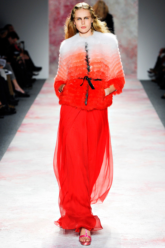 Prabal Gurung, New York Fashion Week, womenswear, autumn winter 2011, fur, feathers, glamour