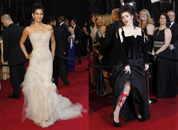Academy Awards, Oscars, red carpet, Halle Berry, Marchesa, Helena Bonham Carter, Colleen Atwood