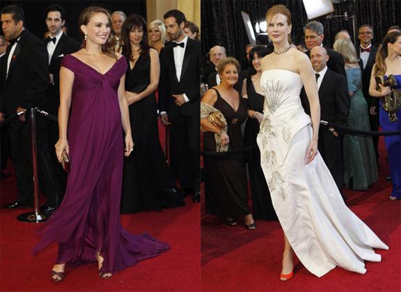 Academy Awards, Oscars, red carpet, Natalie Portman, Rodarte, Nicole Kidman, Christian Dior haute couture