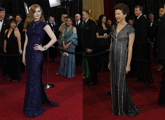 Academy Awards, Oscars, red carpet, Amy Adams, L'Wren Scott, Anette Benning, Naeem Khan