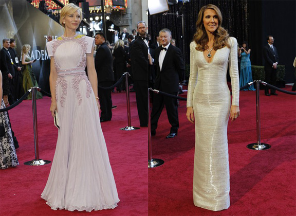 Academy Awards, Oscars, red carpet, Cate Blanchett, Givenchy Couture, Celine Dion, Armani Privé