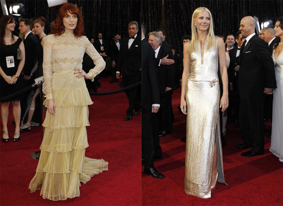 Academy Awards, Oscars, red carpet, Gwyneth Paltrow, Calvin Klein, Florence Welch, Florence and the Machine, Valentino Couture