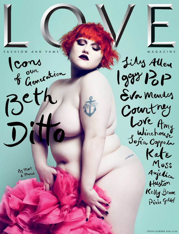LOVE magazine, Beth Ditto, naked, Mert & Marcus, fashion magazines, supermodels, fashion photography, Katie Grand, Conde Nast