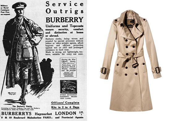 trench coat, Burberry, Aquascutum, World War I, soldiers, trench wars