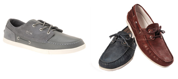 boat shoes, menswear, Lacoste, Hugo Boss, shoes