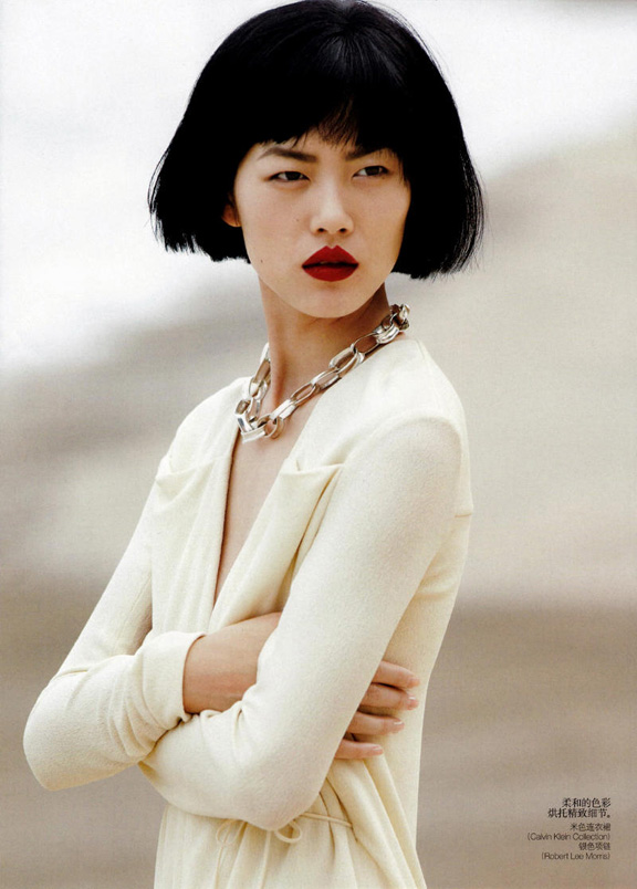 Liu Wen, Vogue China, fashion magazines, magazine editorial, fashion photography, Hans Feurer, Anne Christensen