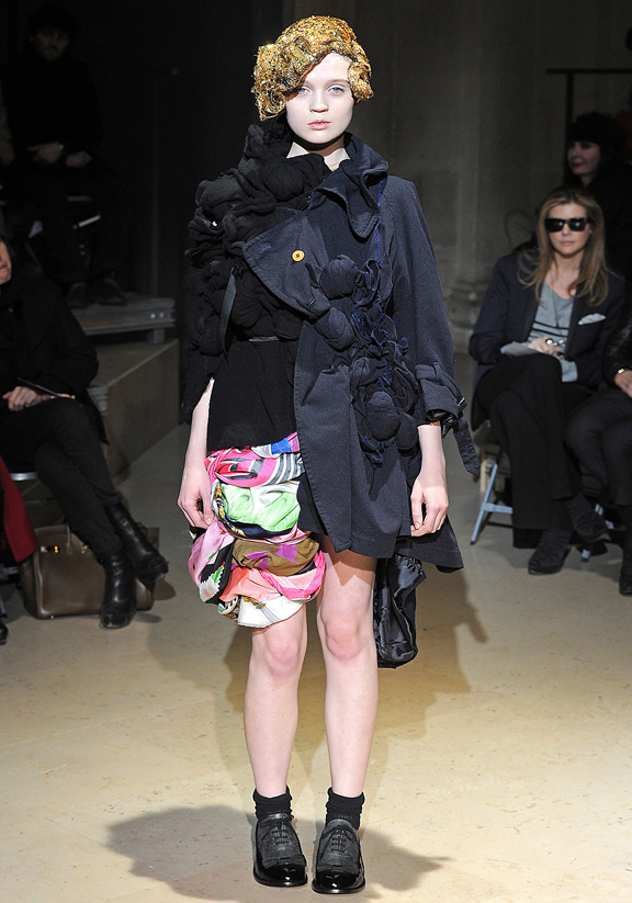 Comme des Garcons, Rei Kawakubo, Japanese designers, autumn winter 2011, fur, Paris fashion week, womenswe