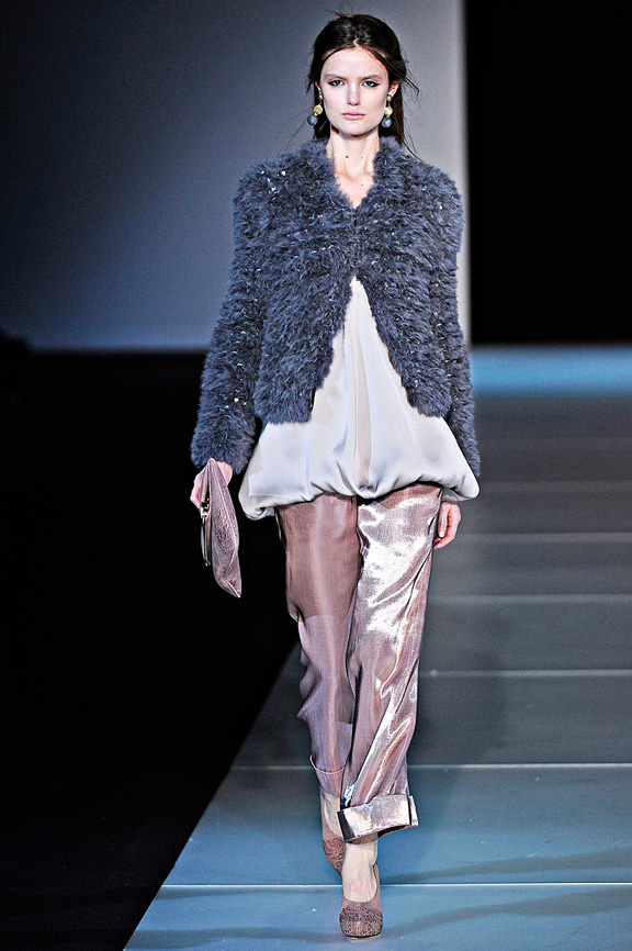 Giorgio Armani, autumn winter 2011, Milan fashion wee