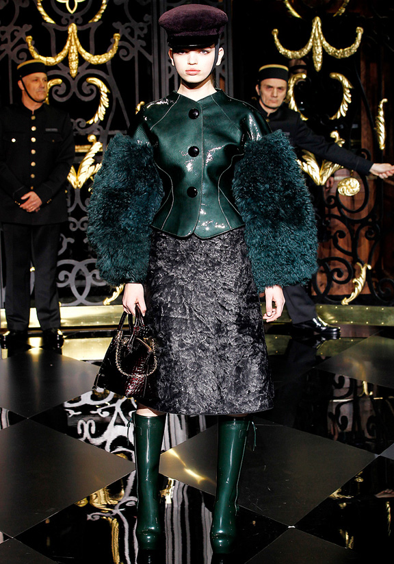 Louis Vuitton, Kate Moss, Marc Jacobs, fur, autumn winter 2011, Paris fashion week, womenswear