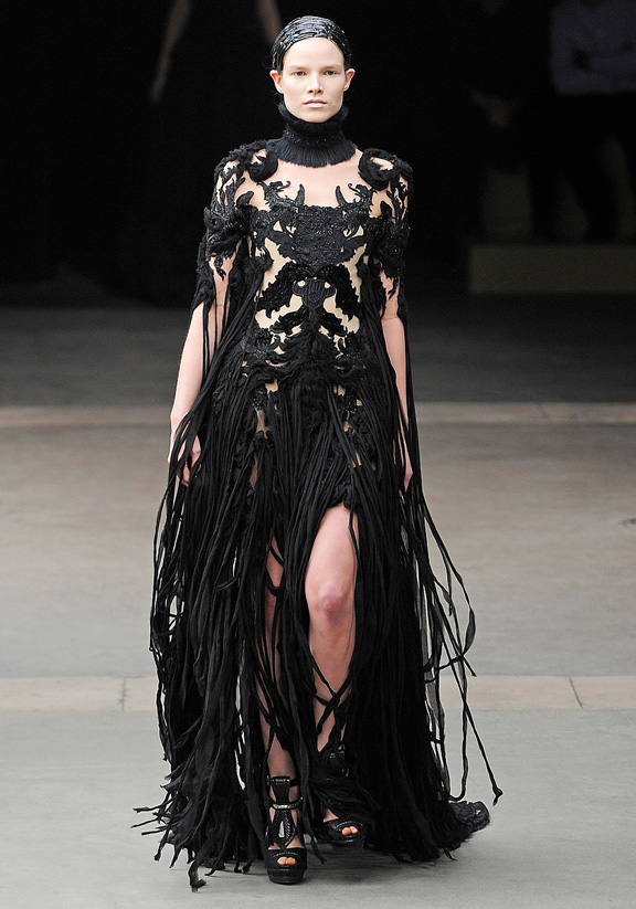 Alexander McQueen, fur, Sarah Burton, Kate Middleton wedding dress, autumn winter 2011, Paris fashion week, womenswear