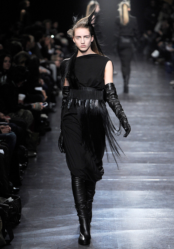 Ann Demeulemeester, fur, autumn winter 2011, Paris fashion week, womenswear