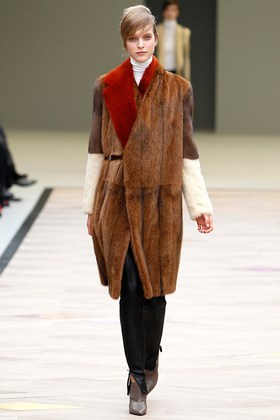 Celine, Phoebe Philo, autumn winter 2011, fur, Paris fashion week, womenswear